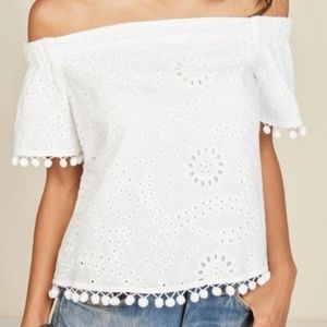 Willow and clay Laverna off the shoulder top